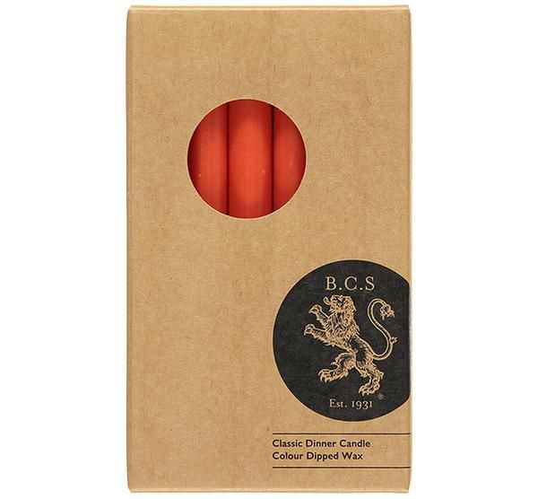 British Colour Standard- Poppy Dinner Candles 6 per pack