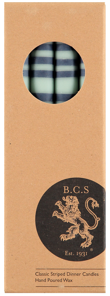 British Colour Standard Dinner Candles in Opaline & Indigo (4 Pack)