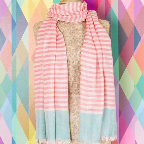bianca striped scarf