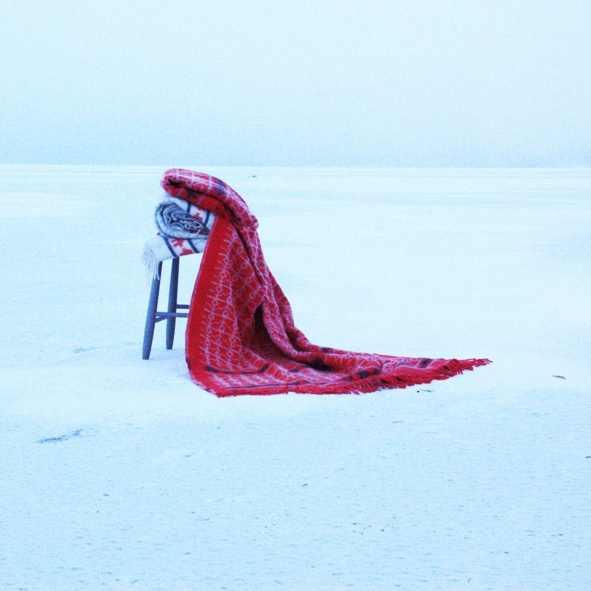 Öjbro Ekshärad Röd 100% Merino Wool Blanket 130x220cm