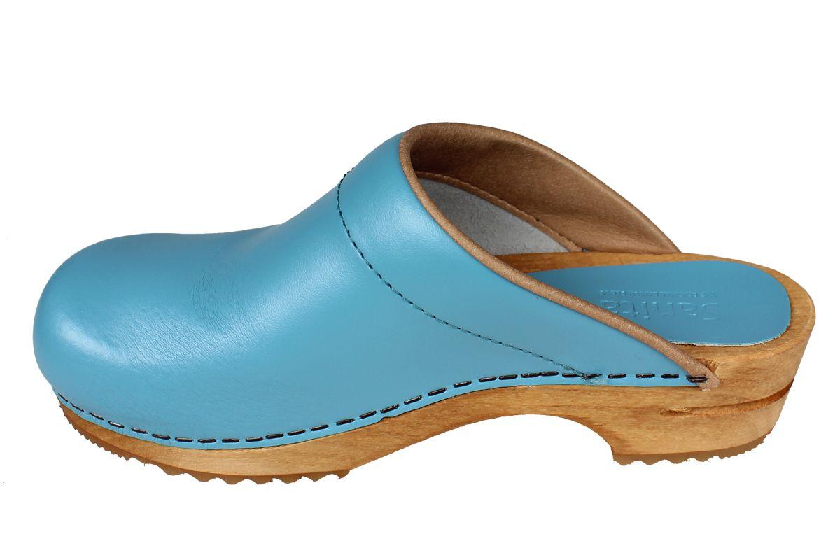 Sanita Lotte Clog in Teal PU Leather