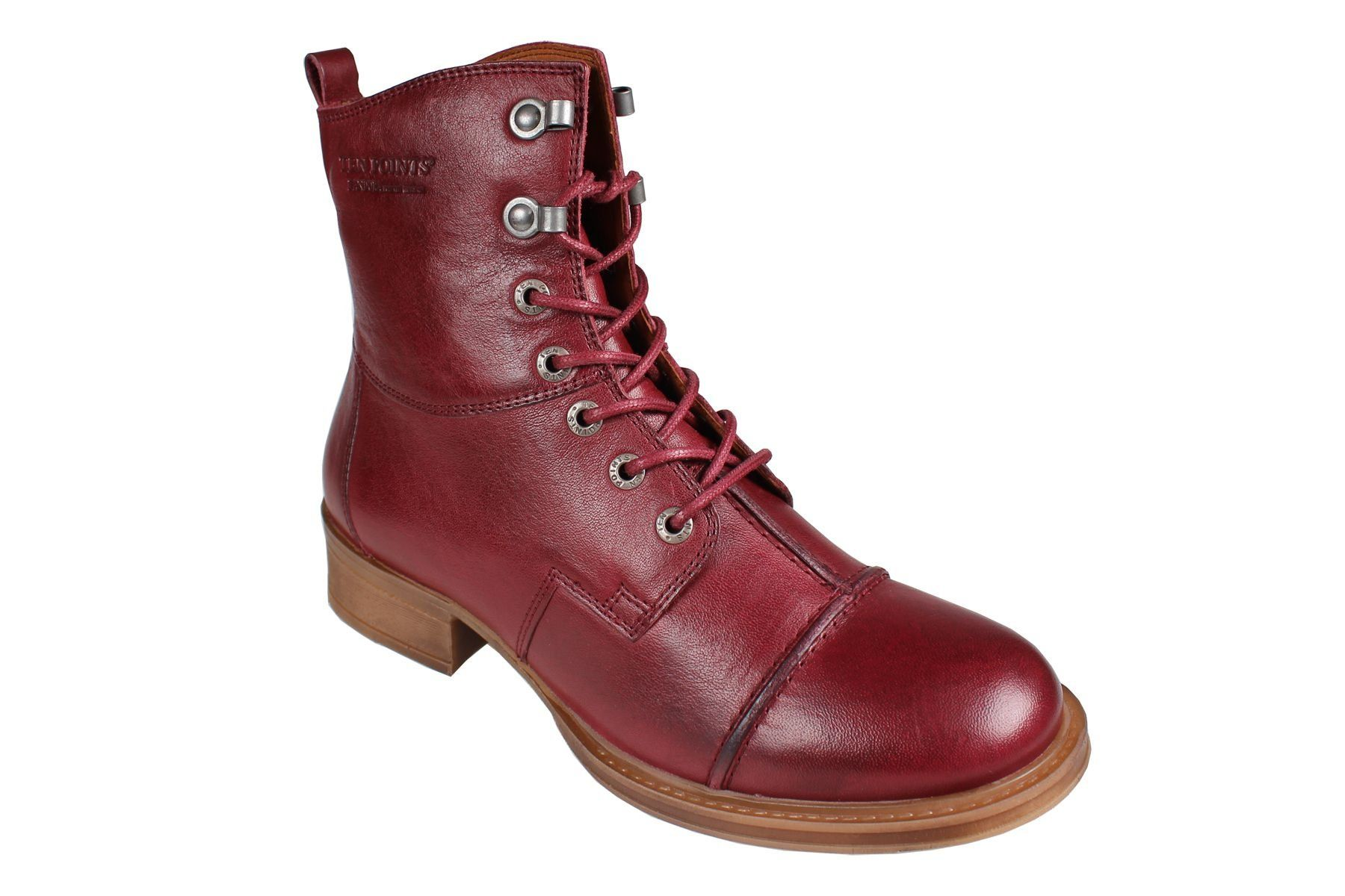Pandora Lace-Up Boot in Bordeaux