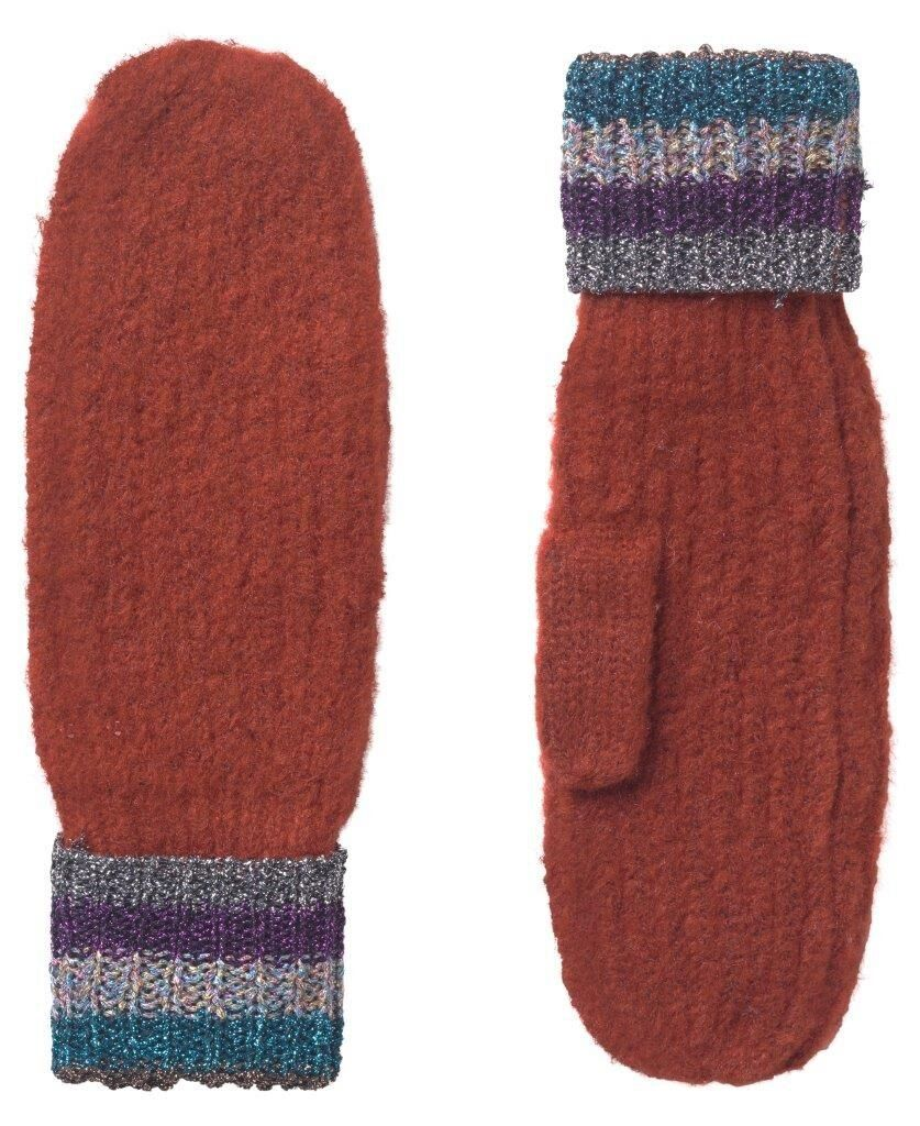 Unmade Copenhagen Totie Mittens in Red Clay
