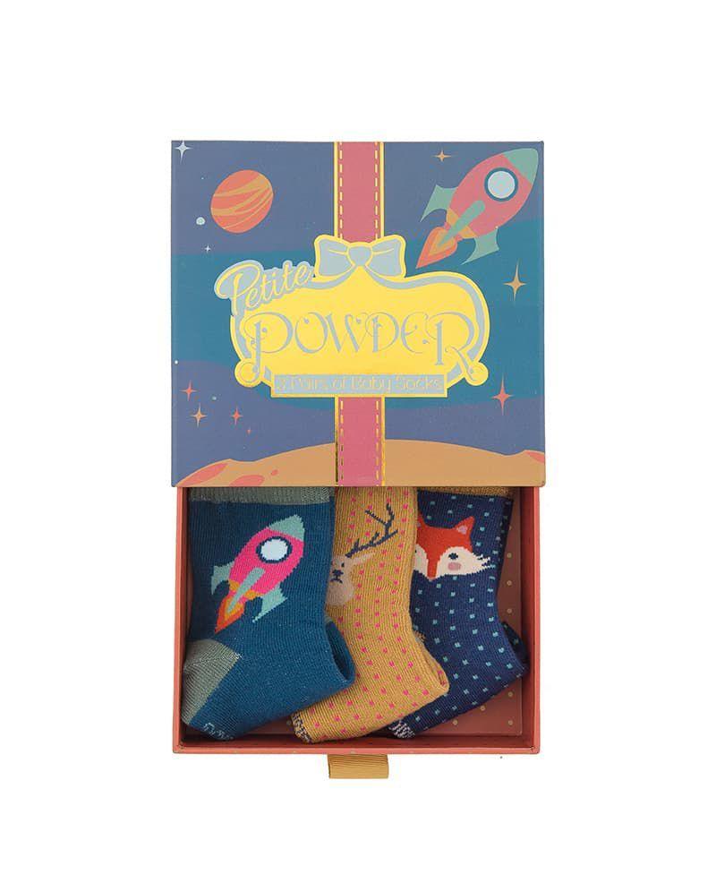 Powder Baby Boy's Rocket Sock Gift Box