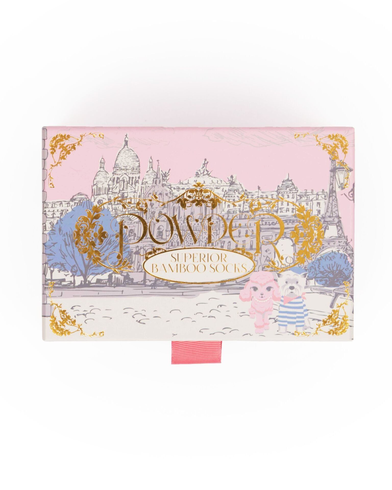Powder Parisian Scene Sock Gift Box