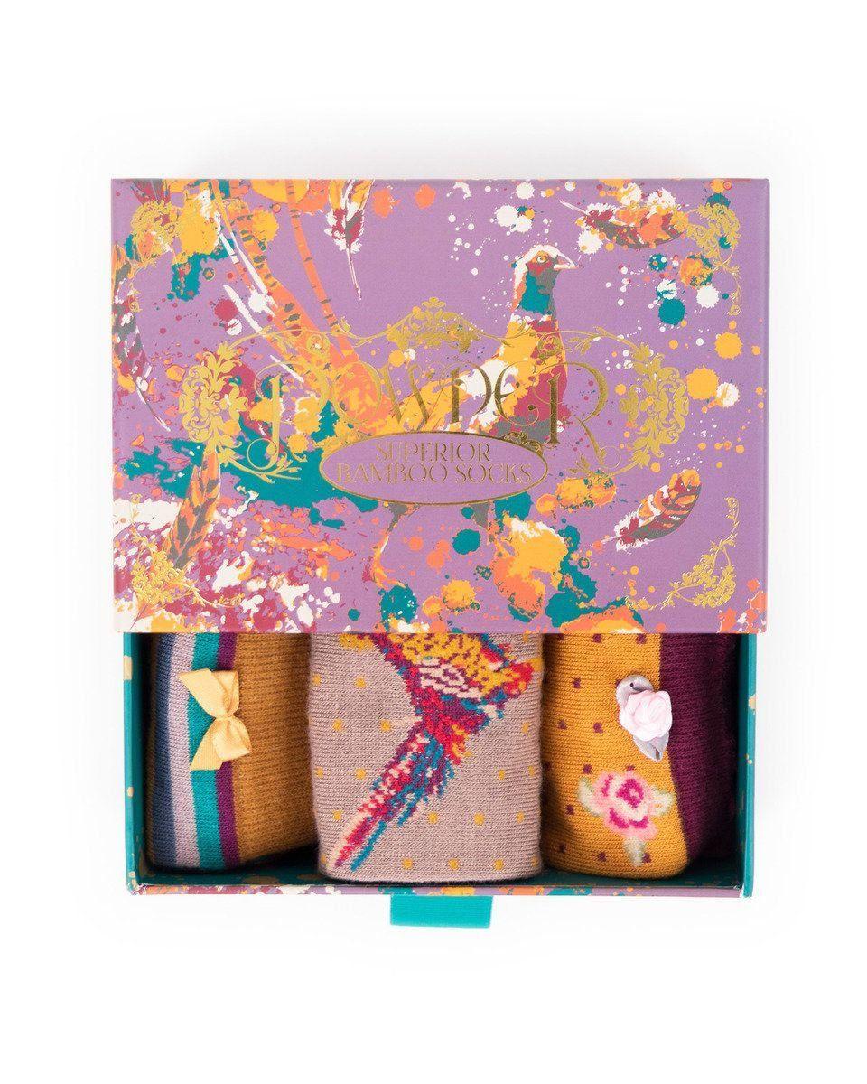 Powder Ladies Pheasant Sock Gift Box