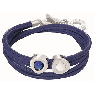 Sense Copenhagen Vienna Bracelet Blue Leather and Worn Silver H658