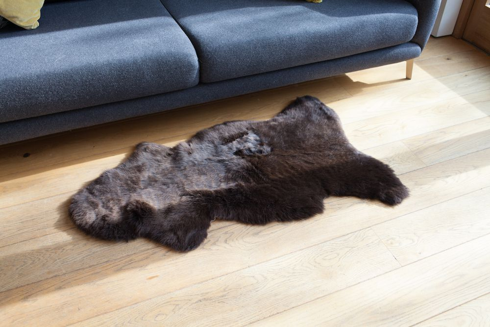 Dark Brown UK Sheepskin M