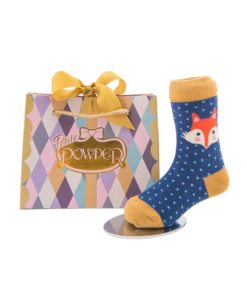 Powder Fox Baby Socks in Navy