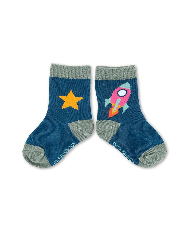 Powder Rocket Baby Socks in Navy