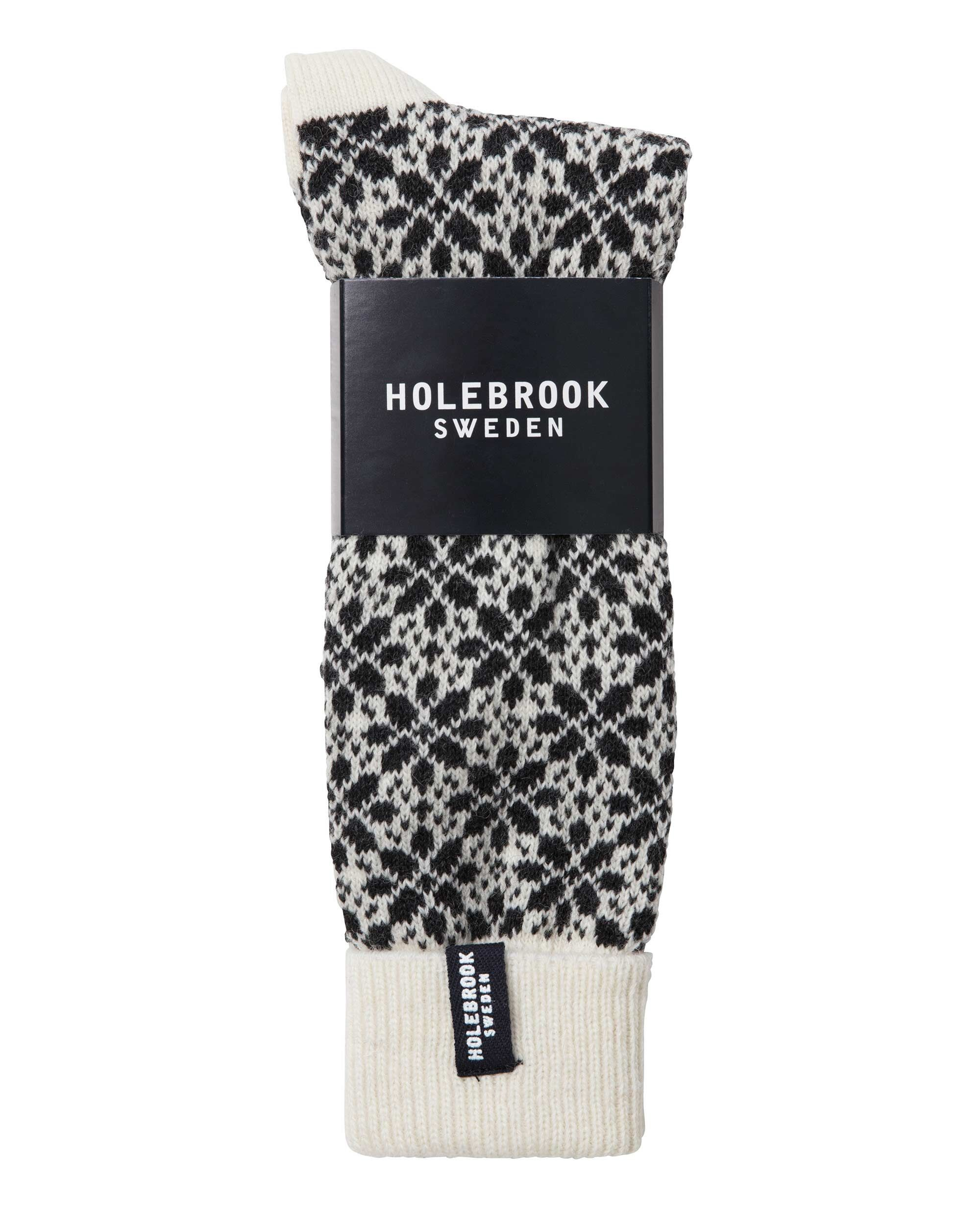 Holebrook Lindö Raggsocka Off White and Anthracite