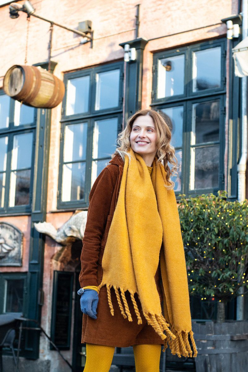 Powder Carolyn Scarf in Mustard