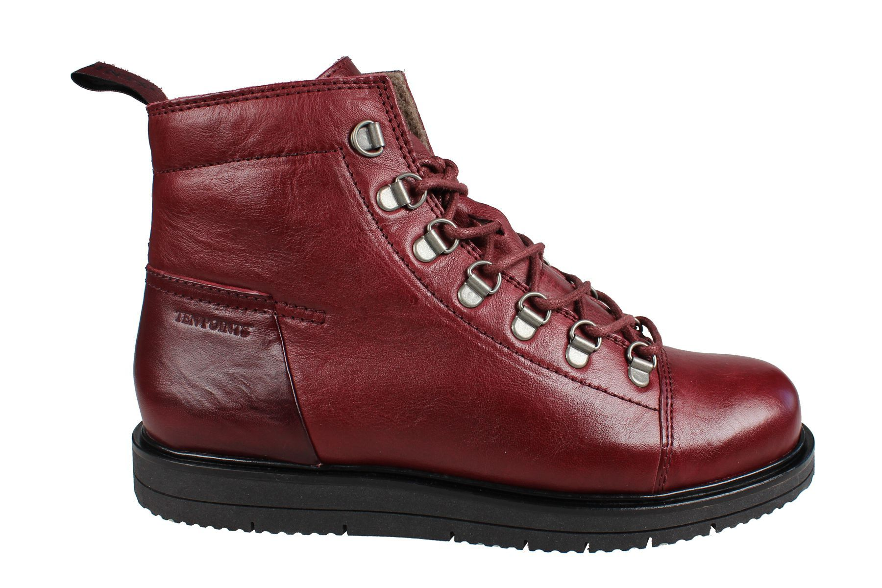 Ten Points Carina Lace-Up in Bordeaux