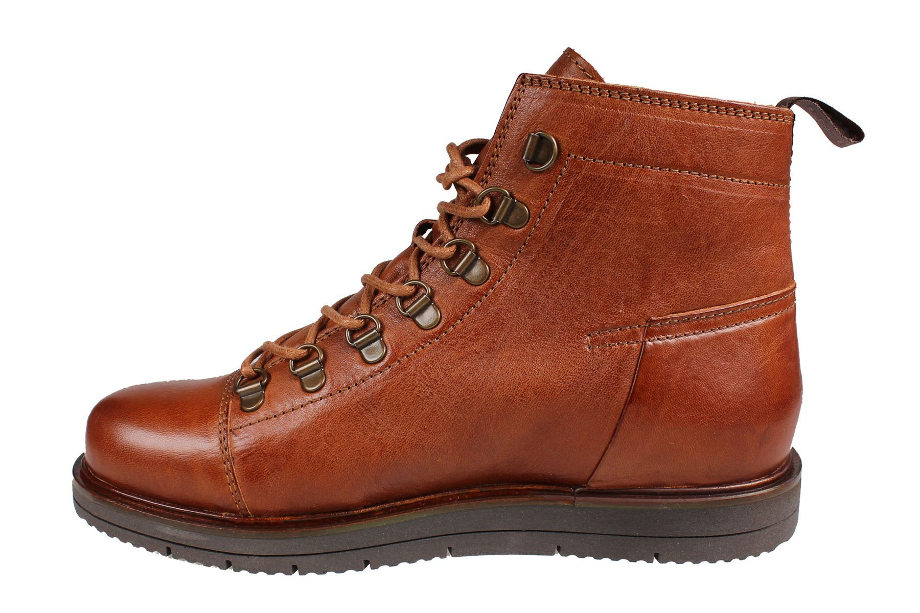 Ten Points Carina Lace-Up in Cognac