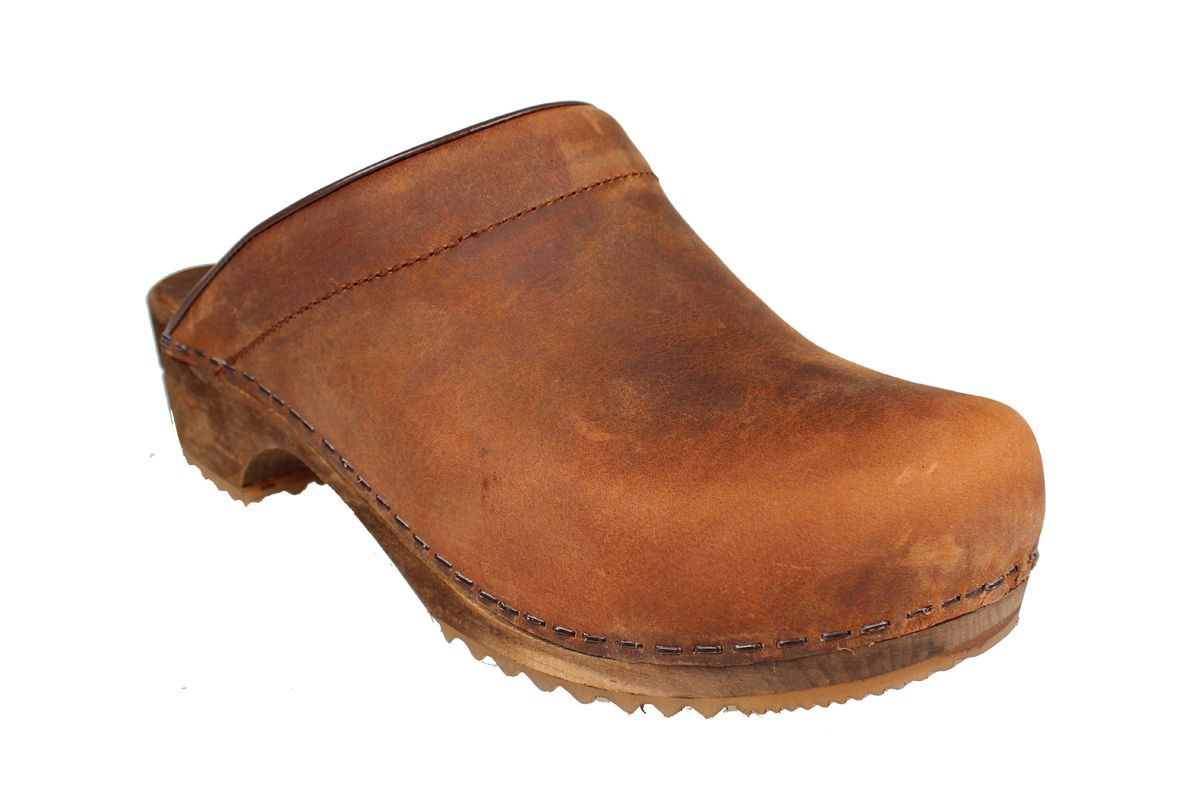 Sanita Chrissy Clogs in Chestnut Oiled Leather