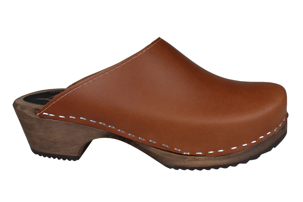 Classic Cinnamon Clogs on Brown Base Seconds