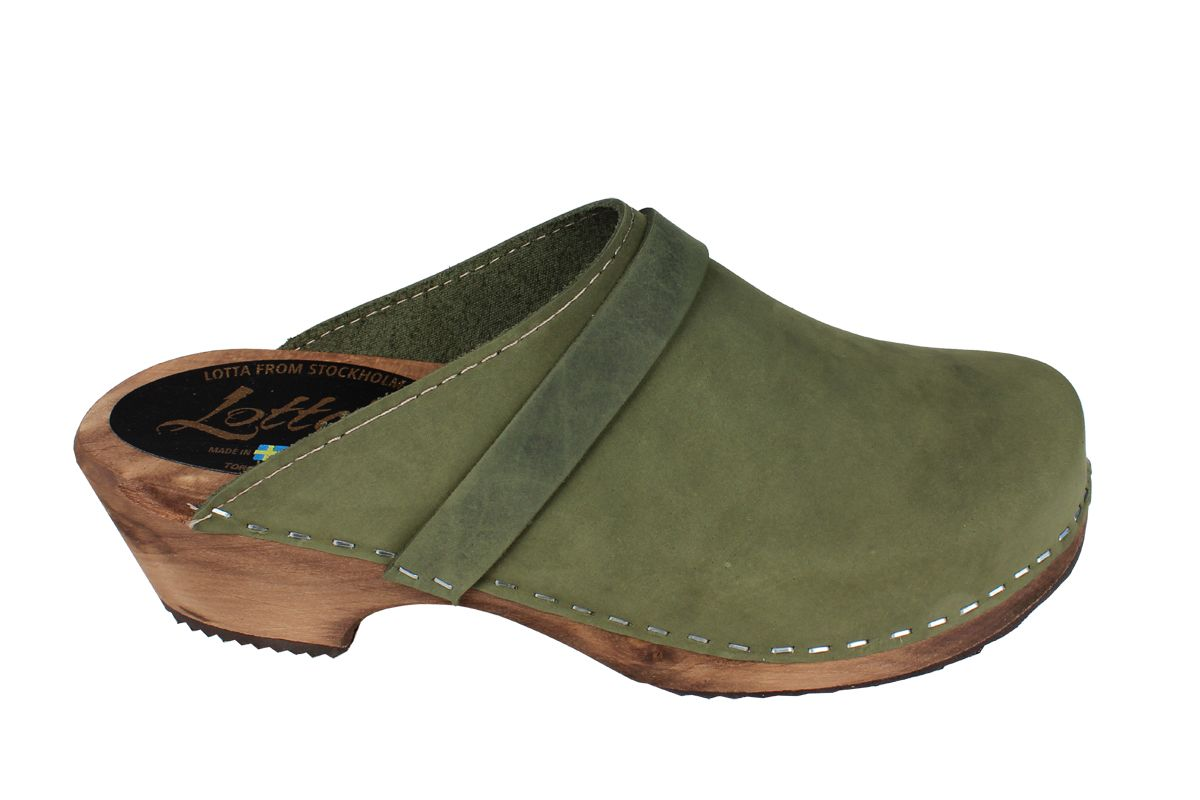 Classic Green Oiled Nubuck on Brown Base