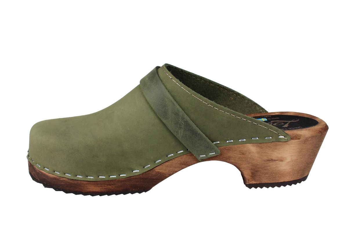 Classic Green Oiled Nubuck on Brown Base Seconds