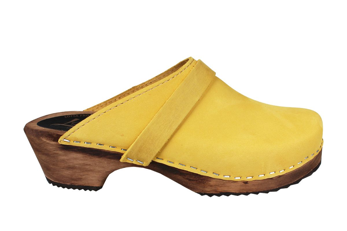 Classic Yellow Oiled Nubuck on Brown Base