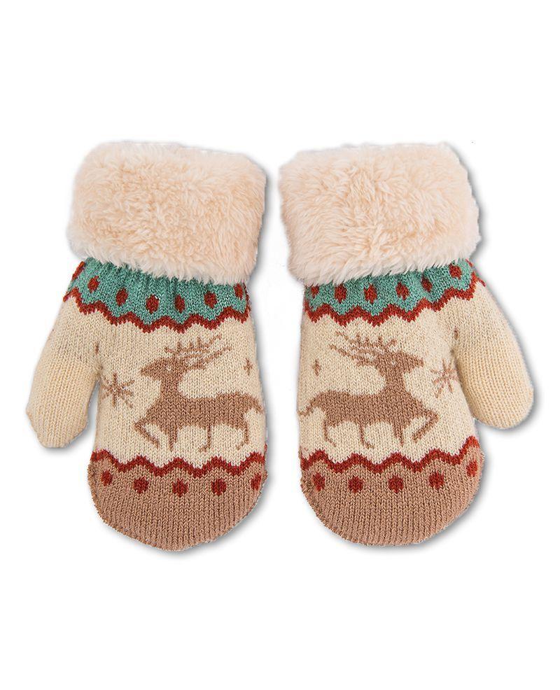 Cosy Baby Reindeer Mittens
