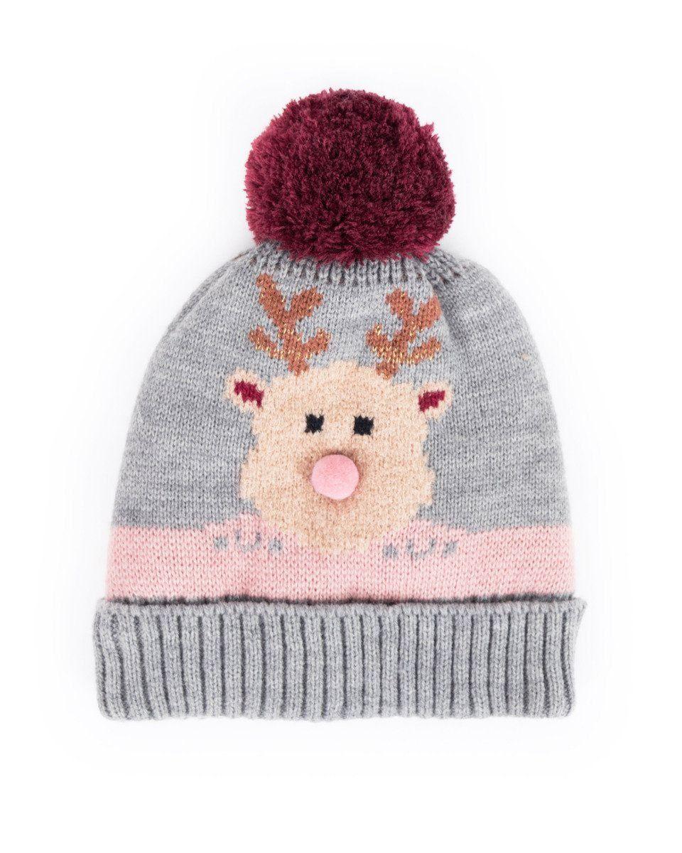 Powder Cosy Kids Rudolph Hat in Slate