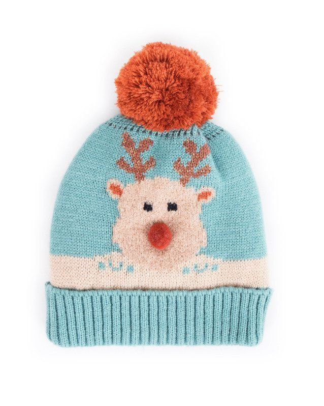 Powder Cosy Kids Rudolph Hat in Ice