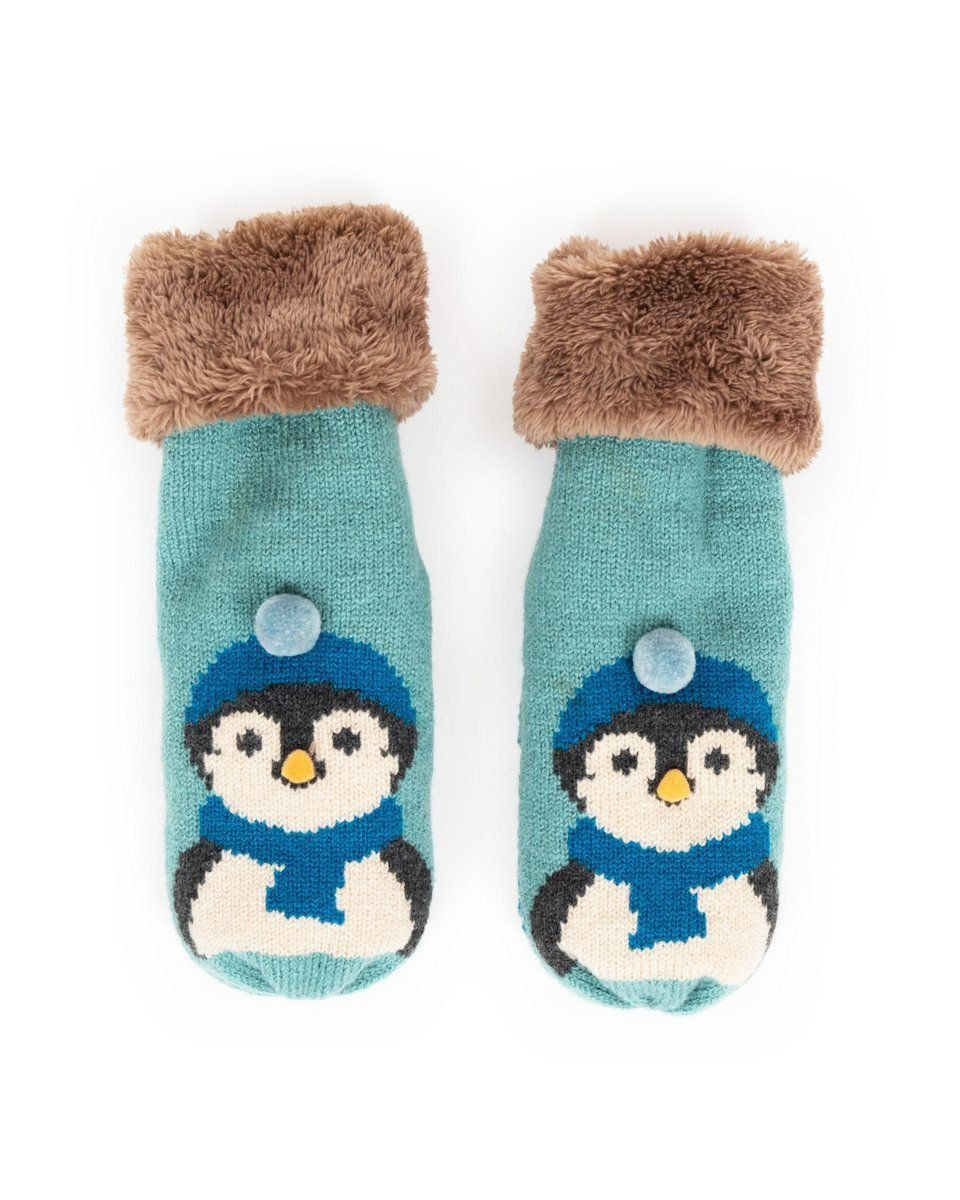 Powder Cosy Penguin Mittens in Ice