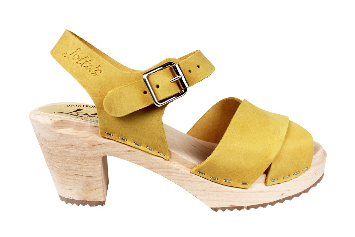 Cross Over Clogs Yellow Oiled Nubuck