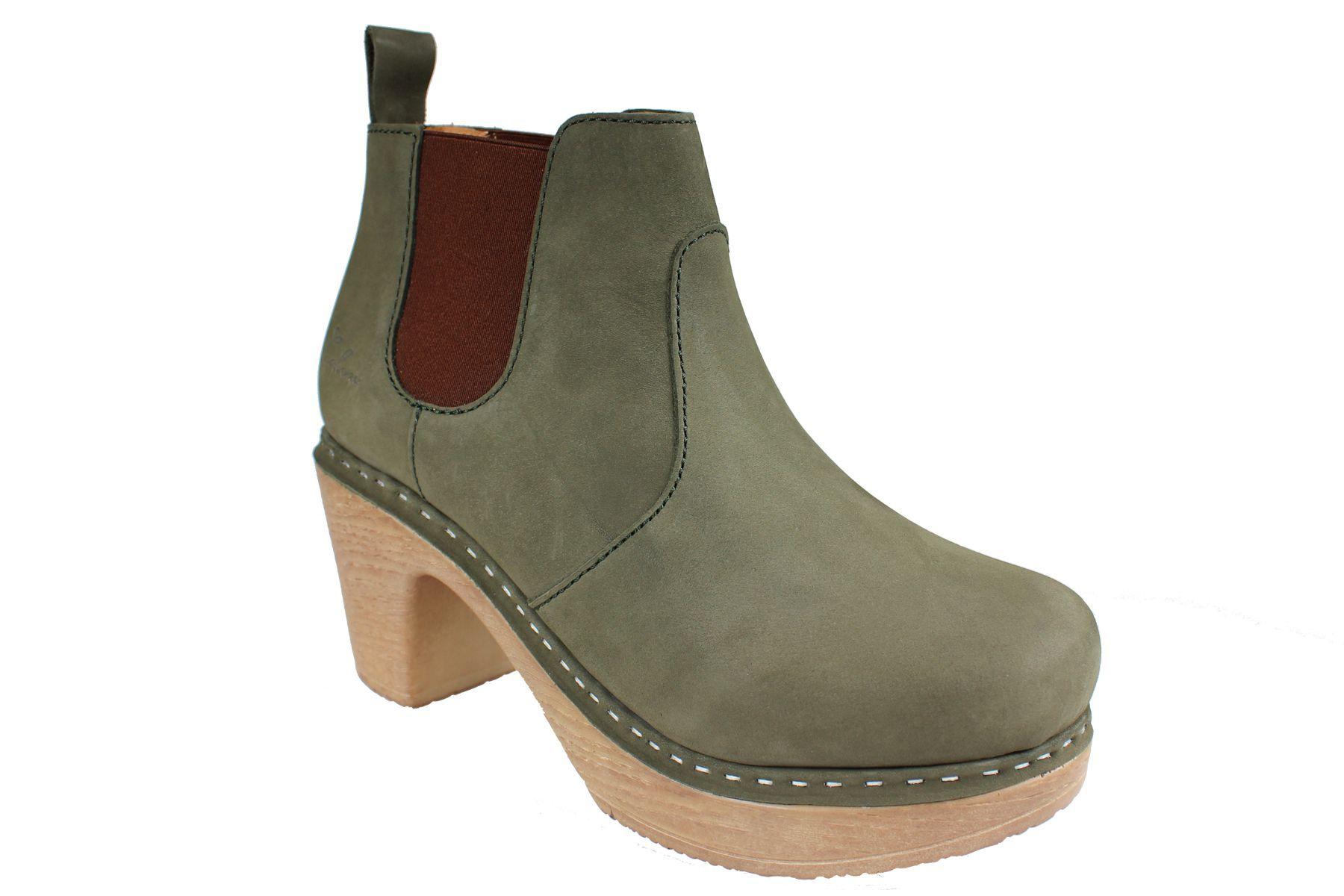 Calou Doris Boot in Green Nubuck
