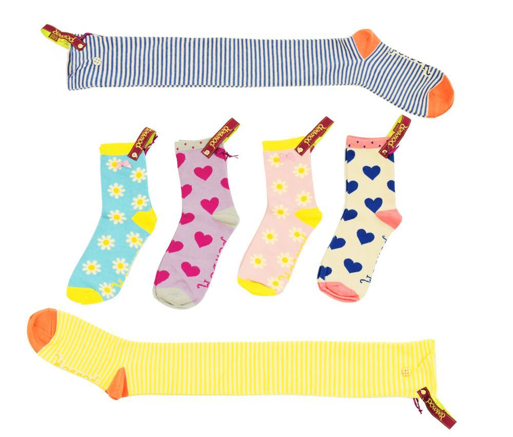 Powder Heart Ankle Socks Lilac