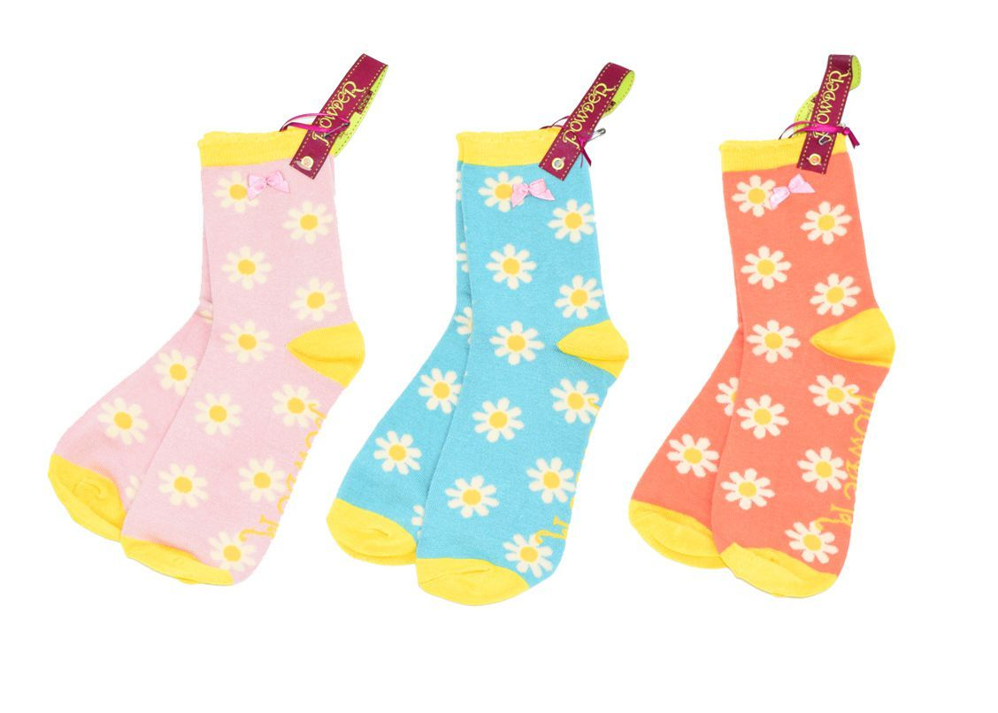 powder daisy socks