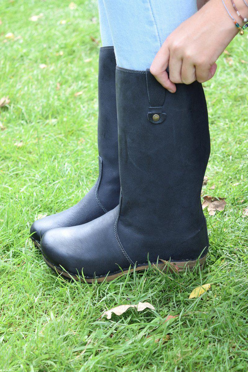 Sanita Malison Clog Boot in Black. Seconds