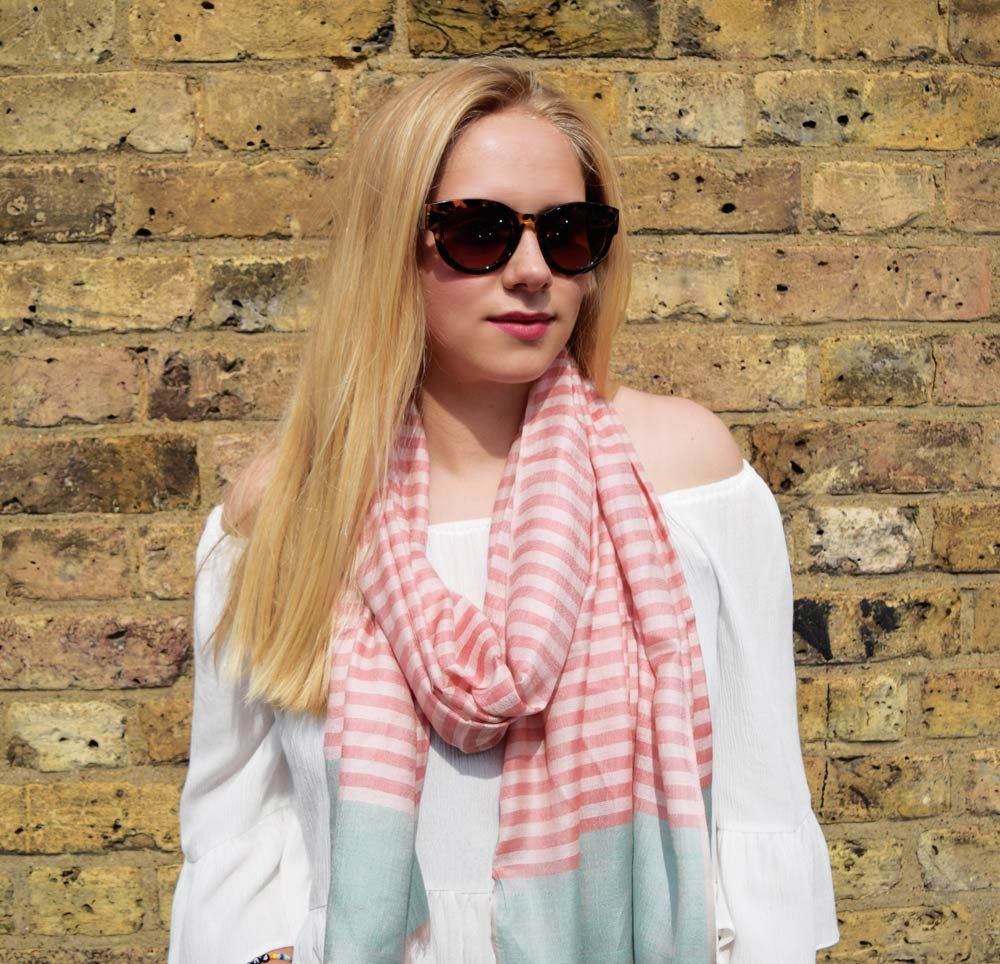 Powder Bianca Striped Scarf