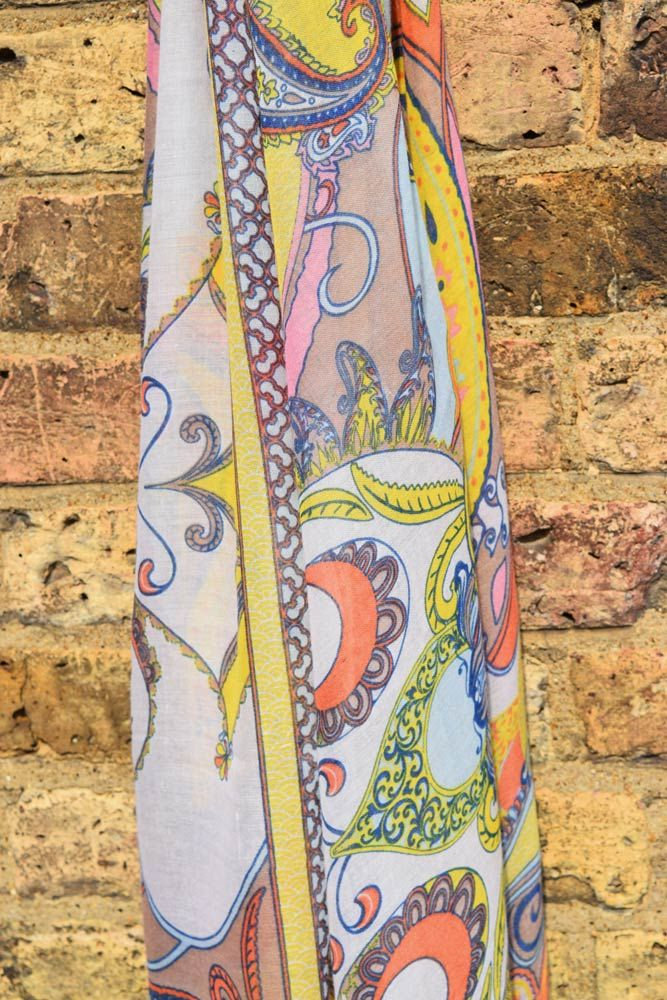 powder paisley scarf