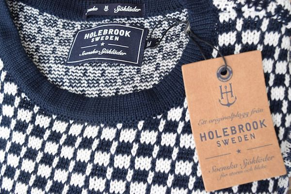 Holebrook Maud Crew in Navy and off white style 4