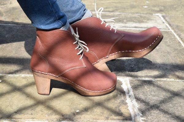 Casablanca High Heel Clog Boot Marron