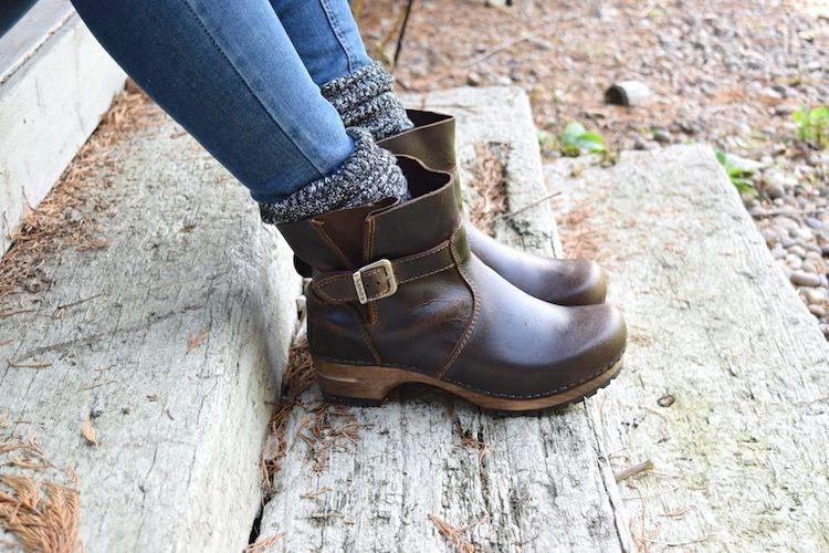 Sanita Mina Dark Brown Clog Boots Seconds