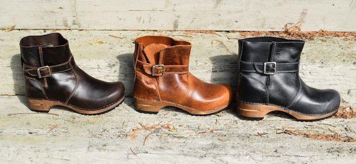 Sanita Mina Dark Brown Clog Boots