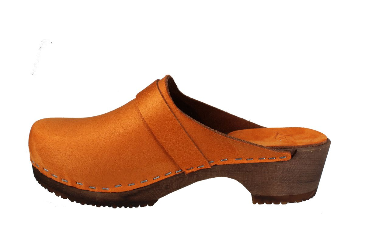 Elsa Classic Orange Micro Style Nubuck Finish with Brown Base