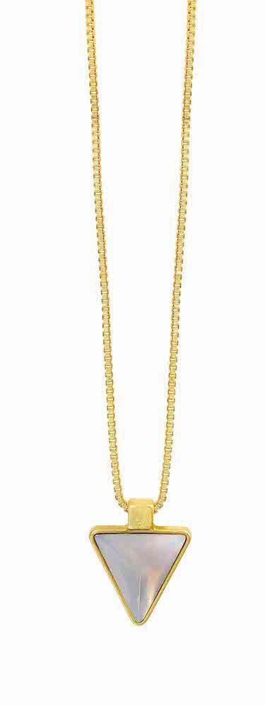 Elements Necklace Worn gold F022