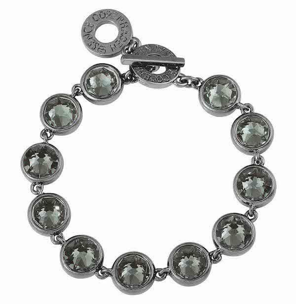 Celebration bracelet in worn hematite with Swarovski crystals. F298
