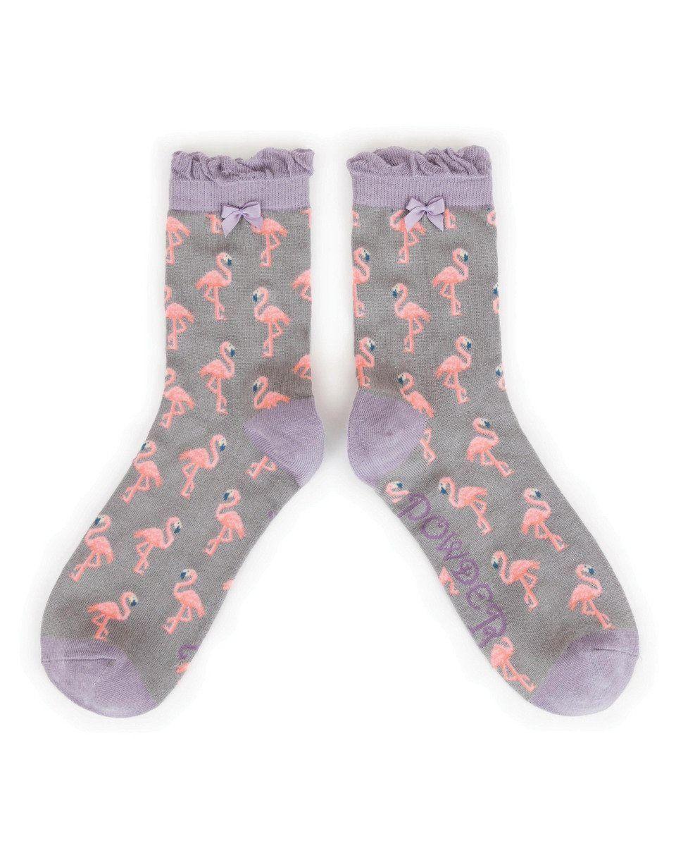 Flamingo Ankle Sock in Slate