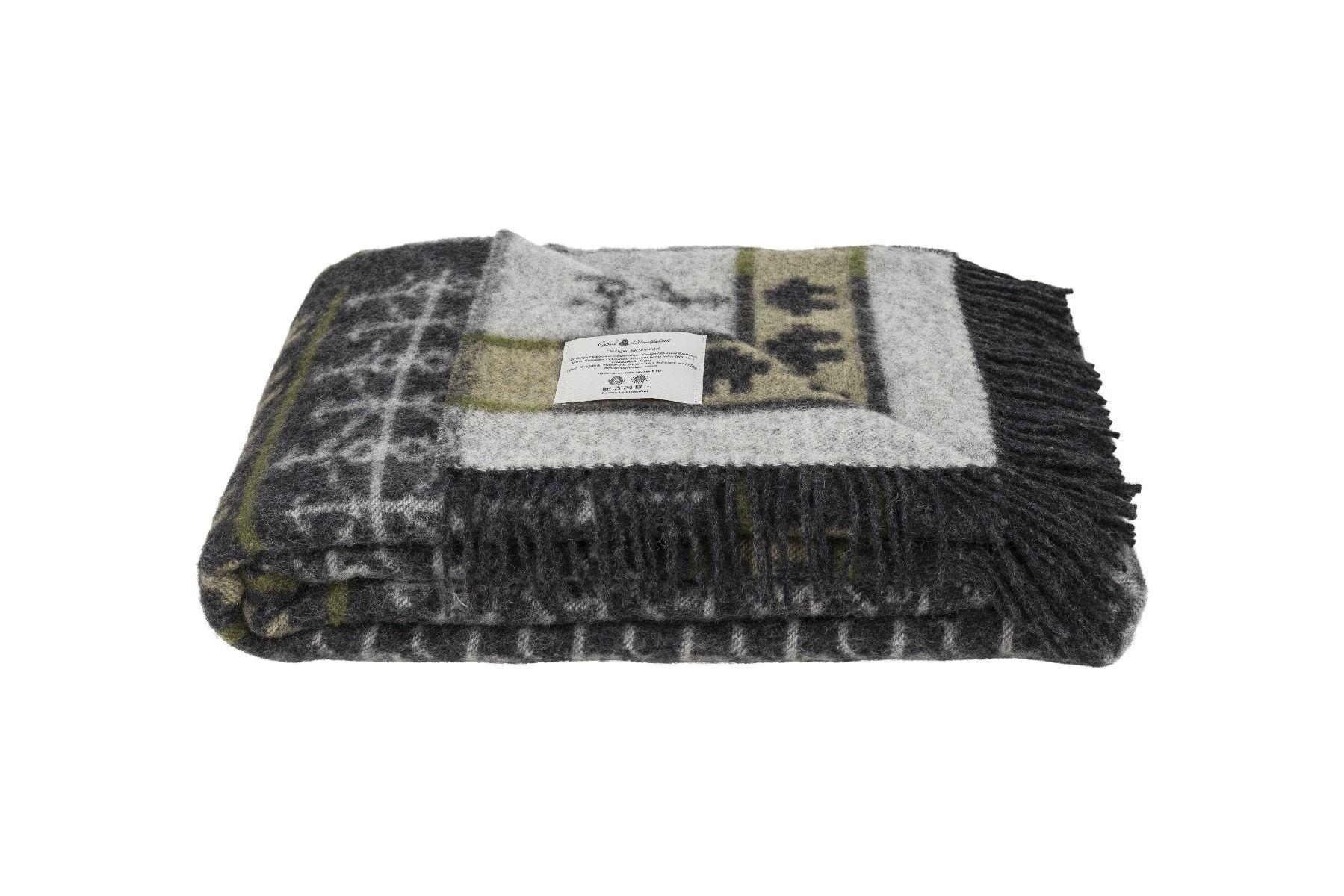 Öjbro Ekshärad Sot 100% Merino Wool Blanket 130x220cm