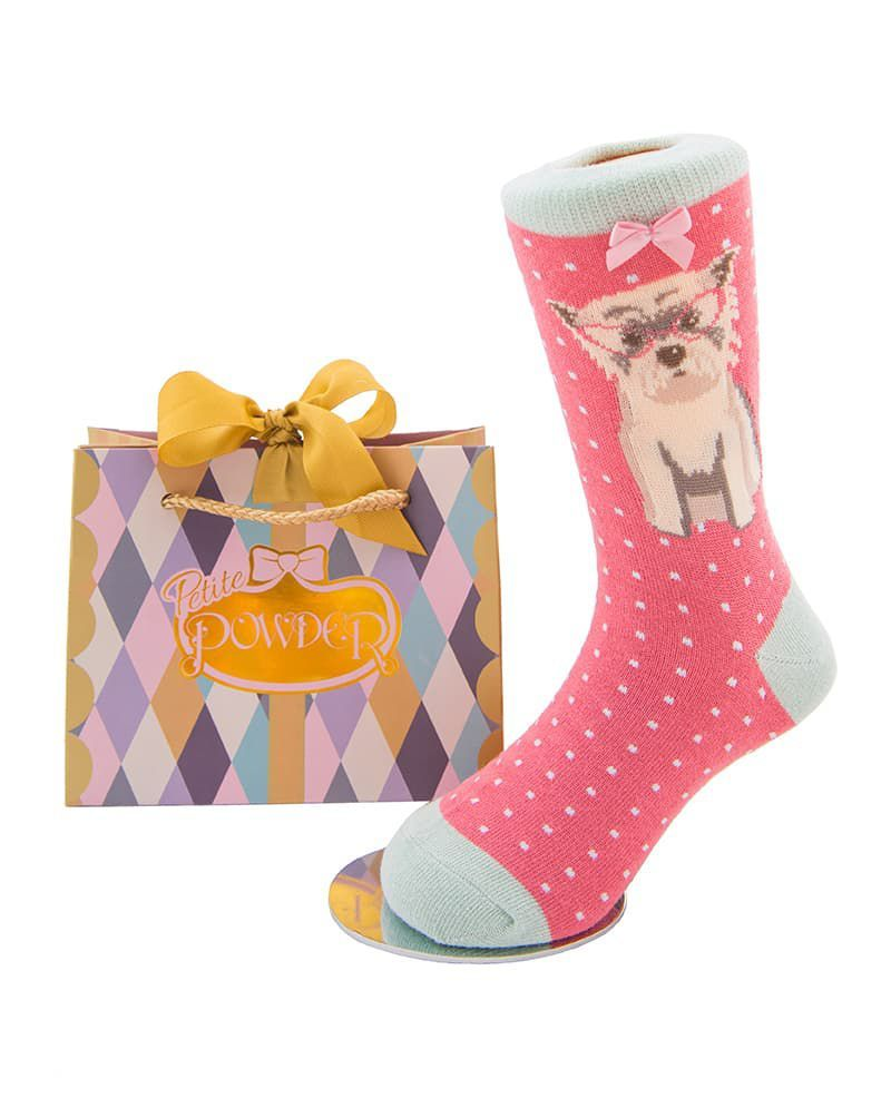 Powder Little Girl's Westie Socks Age 5 - 7 years