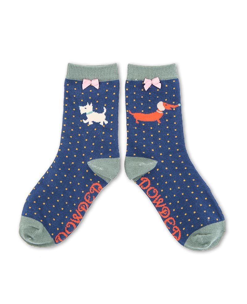 Powder Little Girl's Doggie Socks