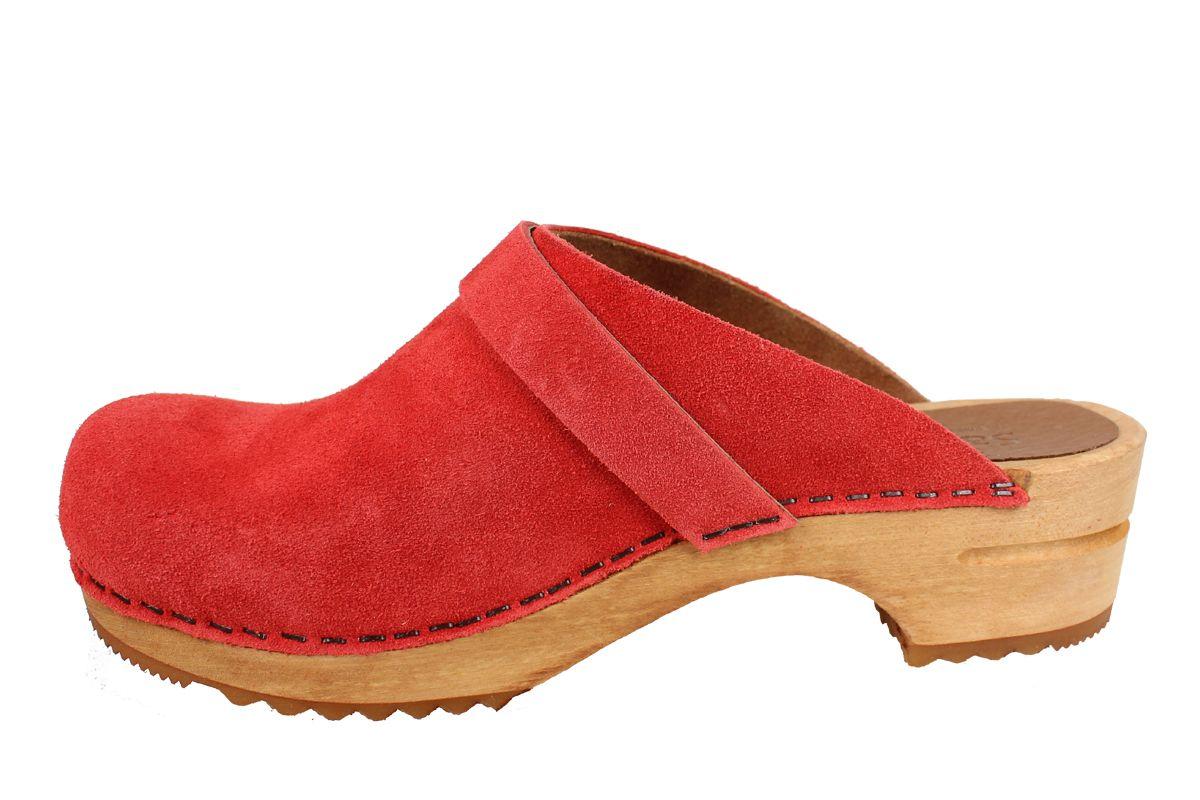 Sanita Hedi Classic Clog in Rusty Red Suede