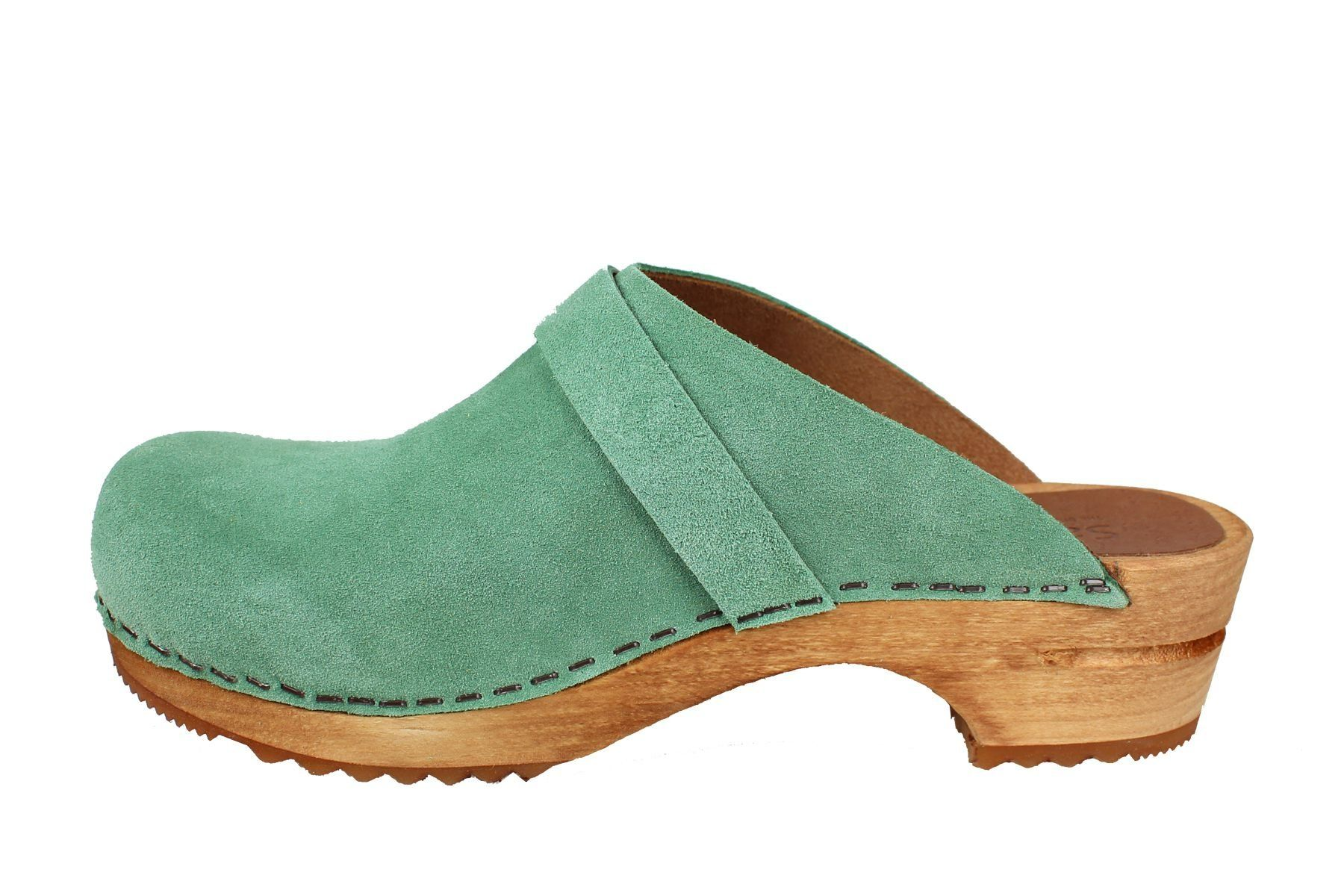 Sanita Hedi Classic Clog in Mint Suede