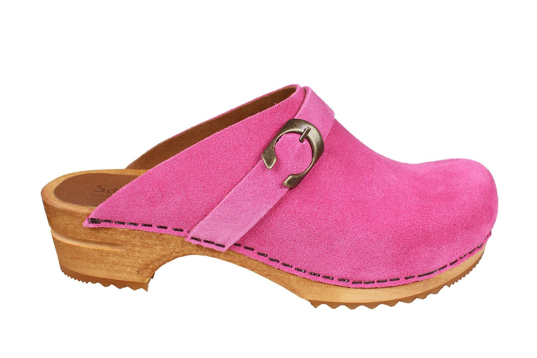 Sanita Hedi Classic Clog in Pink Suede