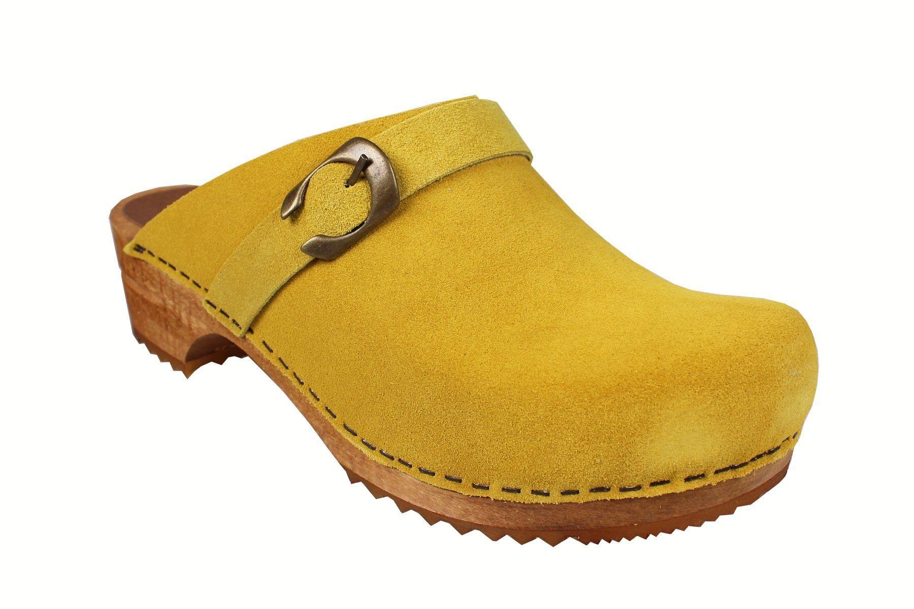 Sanita Hedi Classic Clog in Yellow Suede