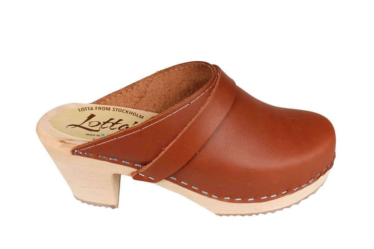 Lotta From Stockholm Classic High Clog in Tan Rev Side